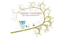 SPED - TEMPER TANTRUMS