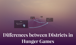 Differences between Districts in Hunger Games