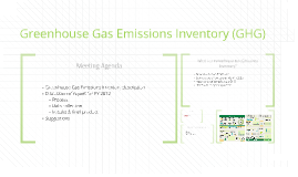 Greenhouse Gas Emissions Inventory (GHG)