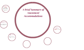A Brief Summary of Assessment Accommodations