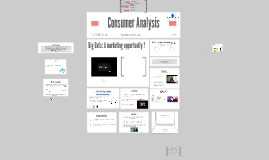 Consumer Analysis - Big Data