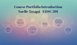 EDSC 591 Course Porfolio