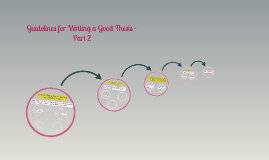 Guidelines for Writing a Good Thesis -