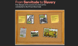 From Servitude to Slavery