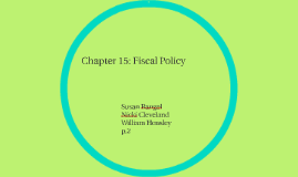 Chapter 15: Fiscal Policy