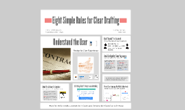 Eight Simple Rules for Clear Drafting