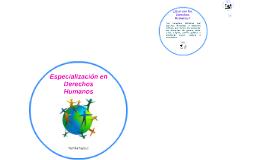 Especialización en Derechos Humnaos