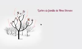 L'arbre de famille de Mme Shreeve