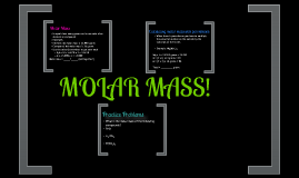 Molar Mass Calculations