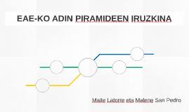 EAE-KO ADIN PIRAMIDEEN IRUZKINA