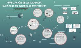 APRECIACIÓN DE LA EVIDENCIA: Evaluación de estudios de Inter