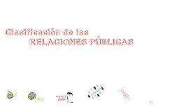 Clasificación de las Relaciones Públicas