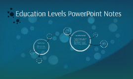 Education Levels PowerPoint Notes