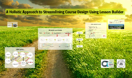 A Holistic Approach to Streamlining Course Design Using Lesson Builder