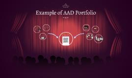 Example of AAD Portfolio