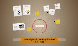Investigación en Arquitectura