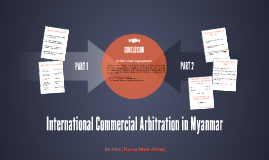 Arbitration in Myanmar