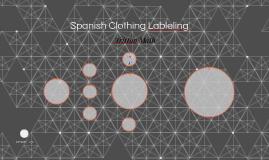 Spanish Clothing Lableling
