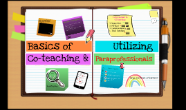 Basics of Co-teaching & Utilizing Paraprofessionals