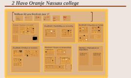 2 havo/vwo Oranje Nassau College