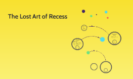 The Lost Art of Recess