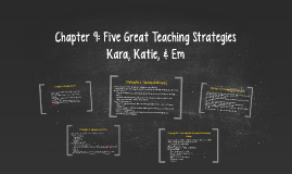 Chapter 9: Strategies