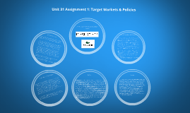 Unit 31 Assignment 1 Target Markets