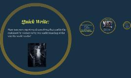 Copy of Copy of Quick Write: