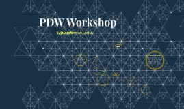 PDW Workshop