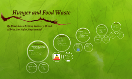 Food Waste and Poverty