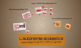 Copy of L'autonomia scolastica -
