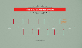 The 1980's American Dream