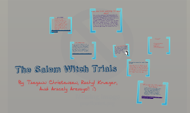 Copy of The Salem Witch Trials
