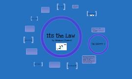 """Math Presentation of """"Its the Law"""""""