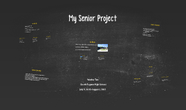 My Senior Project