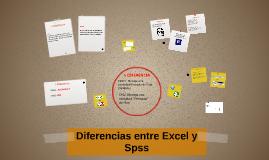 Diferencias entre excel  y spss