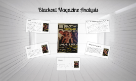 The Blackout Article Analysis