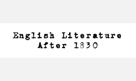 Wk 1: Introduction to English Literature After 1830