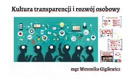 Kultura transparencji i rozwój osobowy