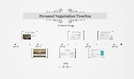 Personal Negotiation Timeline