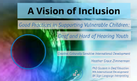 Vision of Inclusion
