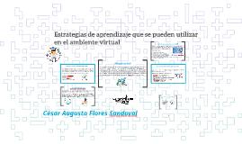 Estrategias de aprendizajes para Entornos Virtuales