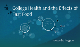College Health and the effects of Fast Food