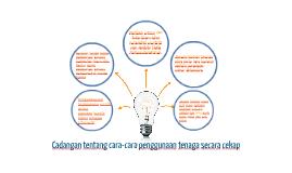 Cadangan tentang cara-cara penggunaan tenaga secara cekap