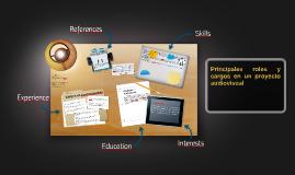 Copy of Principales roles y cargos en un proyecto audiovisual