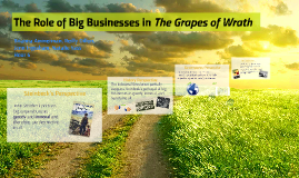 The Role of Big Businesses in The Grapes of Wrath