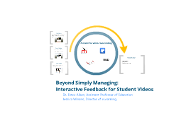 Beyond Simply Managing: Interactive Feedback for Student Videos
