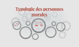 Typologie des personnes morales