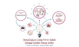 Pemanfaatan Energi Panas Tubuh