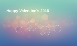 Happy Valentine's 2016